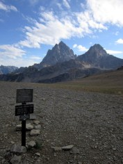 Still hiking at the back of the Tetons