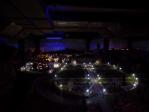 A palace at night