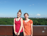 Rachel - from CA - and I, at the top of the Planetarium