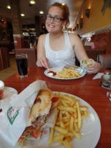 Döner. I always start eating before remembering to take a picture!