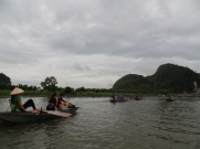 Tam Coc - notice the rowers are using their feet!