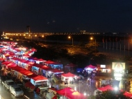 View of the Vientiane night market from our hotel