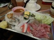 A buffet/hot pot meal (my birthday dinner!) in Northern Thailand